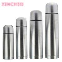 Xinchen 1L clássico de aço inoxidável térmico duplo isolado de vácuo portátil copo chaleira com chá de corda 201118