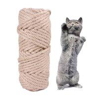 Sisal веревка кошка дерево DIY царапание пост игрушечный кот взбираясь рамки замена веревки стола ноги переплета веревка для кошки точить коготь jk2012xb