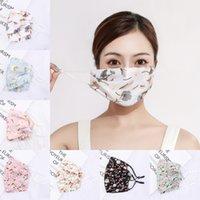 Frau Chiffon Sonnencreme Maske Frühling Sommer Atmungsaktive Dame Mund Masken Waschbare Wiederverwendbare Maske Floral Gesichtsmasken ZZC3452