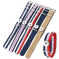 Bracelets de charme Bracelet en nylon Gingembre Snap Bijoux Vocheng Interchangeable pour 18 mm Bouton Sangles de Weave Bande NN-7161