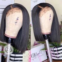 Glueless Bob Wig Brazilian Silky Straight Short Lace Front H...