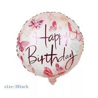 18 polegadas redonda feliz aniversário balões feliz aniversário letras impressas festa de alumínio balões home decor hha3524