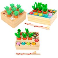 TJ Puzzle Match Wooden Magnetic Fruit Tree Montessori Counting & Time Toys Chlidren Gift Apple Pear Education Toy