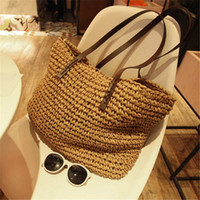 HBP Straw Bag 2021 Spring New Beach Women One- shoulder Bag E...