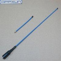 Walkie Talkie Oppxun Opx-772 Niebieski SMA-F SMA VHF / UHF 144/430 MHz Antena dla TK3190 TK3207G TK378G TK 3107 2100 Baofeng Radia
