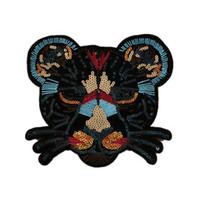 Moda Badge Patch Leopard Head Sampling Ferramentas de costura Acessórios de roupas bordados Qualquer forma pode ser personalizada