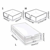 Acrylic Towel Napkin Holder,Clear Bathroom Paper Hand Towels Storage Tray for Ki GXMA