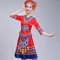 Dans Giyim Moğol Kostüm Sahne Performans Giyim Dans Etek Kıyafeti Moğol Kostüm Azınlık Halk Giyim1