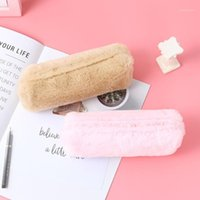 Geldbörse Koreanische kreative Bleistiftkoffer Mädchen Taschen Plüsch achteckige Stift Tasche Student Einfache Schreibwaren Bleistiftkoffer niedlich Wallet1