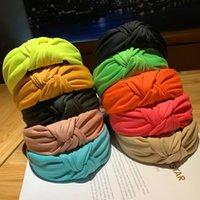 Frauen Solid Band Mode Neonfarbe Tuch Reifen Mädchen Süße Bogenknoten Stirnbänder Dame Headwear Haarschmuck
