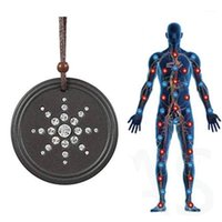 Protección contra la radiación anti EMF Cantante colgante Collar de energía Scalar Mujeres Hombres Quantum Magnetic Field Therapy Deportes Collares1