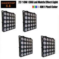4 teile / los 5x5 RGB LED COB 25x10w 4in1 RGBW Blinder Light Punkt Matrix für Hochzeitsdisco