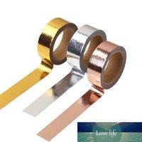 1 pcs 15mm * 5m 2016 folha de ouro washi tape prata / ouro / rosa cor de ouro japonês kawaii fita diy scrapbooking ferramentas mascarar fita
