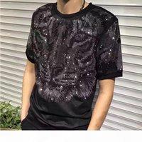 Wholesale men luxury diamond design Tshirt fashion t-shirts men funny t shirts brand tops and tees modi01