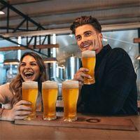 Super Schooner Cerveja Copo Caneca Cup 4 em 1 Beers Separable Levar Vinho Wine Glasses Bar Party Home CCA12657 Mar Shipp M2
