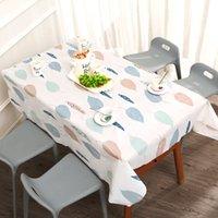 Ev su geçirmez yağ geçirmez masa örtüsü limon çilek desen yıkama ücretsiz pvc dikdörtgen karikatür masa keten sıcak satış 4 6bs J2