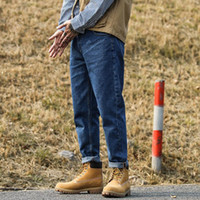 Erkek Kot Vintage Casual Stil Kargo Denim Pantolon Erkek Streetwear Ayak Bileği Uzunlukta Harem Jeans Pantolon Erkekler Için