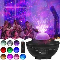 LED Sky Galaxy Star Projecteur Télécommande Bluetooth Music Box Lecteur Couleur Lampe d'éclairage de vacances USB Starry Night Lamp