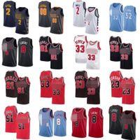 Collin 2 Sexton Basketbol Formaları Mens City John 2 Wall Karl-Anthony 32 Kasaba Zach 8 Lavine Scottie 33 Pippen Formalar