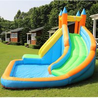 Wet OrDry Inflatable Slide Garden Supplie Bounce House Jumper Slides Park Combo For Kids Outdoor Party Water Parks With Spray Summer Play Games Gift Happy Amusement
