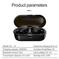 XG-13 TWS Bluetooth 5.0 Wireless Earphones In-Ear Stereo Headphones Noise Reduction Sport Earbuds For Android Phone In Retail Box