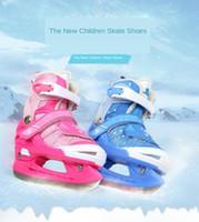 Sapatos de skate das crianças Hot Shoes ajustáveis Sapatos de skate para iniciantes Faca de hóquei no gelo Figura Skates de aço inoxidável