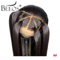 Beeos 360 الرباط الباروكات أمامي قبل التقطه 130٪ طفل الشعر البرازيلي ريمي مستقيم الجبهة الرباط شعر الإنسان منذ فترة طويلة الباروكات بليتش عقدة