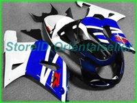 Custom Blue White Black AE052 Kit de Feira para Suzuki GSXR 600 750 K1 2001 2002 2003 GSXR600 GSXR750 01 02 03 Jogo de feiras de motocicleta