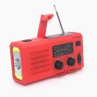 Radio manivelle solaire solaire avec lampe de lecture multifonctionnelle AM / FM / FM / NOAA Chargeur de téléphone d'urgence
