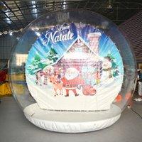 Globo gonfiabile gonfiabile del globo gonfiabile del globo della neve del globo umano della dimensione umana gigante 3m per il Natale con il ventilatore dell'aria
