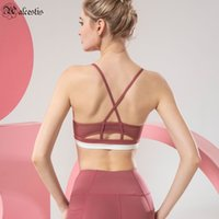 2021 Base elástica Deportes Ropa interior femenina Correr Sexy Beauty Back Cross Strap Yoga Chaleco Fitness Bra
