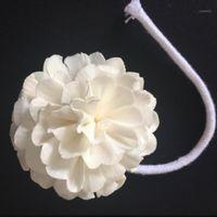 زهور الزهور الزخرفية 48pcs زهرة سولا مع حبل للانتشار الناشر محاكاة من نبات القصب الهواء المعطر 1