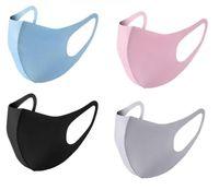 New Retail Packaging Face Mask Ice Seta Designer Designer Protezione della bocca di protezione antipolvere Kpop Riutilizzabile Lavabile Lavabile Confortevole Black Masch FA1