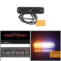LED ultra-sottile 18W luci 12V-24 V 6LEDS car camion di emergenza lato stroboscopio luce dxy881