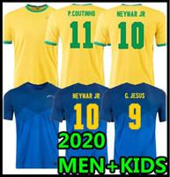 2020 البرازيل Soccer Jersey Brasil 20 21 Camisa de Futbol Copa America Camiseta de Fútbol Coutinho Firmino Jesus كرة القدم قمصان رجالية + أطفال