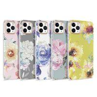 내구성 골드 도금 꽃 전기 도금 잔디 패턴 전화 케이스 아이폰 11 12 프로 엑스 최대 xr x 7 8 소프트 TPU 쉘
