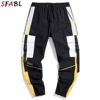 SFABL Fashion Patchwork Cargo Pantalons Men Harem Joggers Pantalons High Street Harajuku Hommes Pantalons de survêtement Hip Hop Pantalons Streetwear Male1