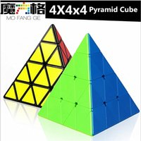 Qiyi 4x4x4 Pyramid Speed Cube Qiyi Pyramid 4x4 Puzzle Magic Cubo 4x4 Puzzle Pyramid Cube Niños Educación Juguetes 201219