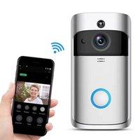 2021 Yeni WiFi Viideo V5 Kapı Zili Akıllı Ev Kapı Çan Kesme 720 P HD Kamera Gerçek Zamanlı İki Yönlü Ses Gece Görüş PIR Hareket Algılama