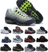 Commercio all'ingrosso Ultra 95 OG x 20 ° anniversario Uomini in esecuzione scarpe sportive 95s Trainer Air Black Sole Grey Blue di alta qualità Chaussures Tennis Scarpe da tennis