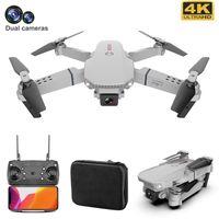 Drones Drone 4K HD Kamera Ile WiFi Çift Mini Quadcopter FPV Akıllı Uzun Pil Ömürlü Rakım Tutun RC