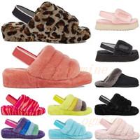 Wgg Boother Boots australianos para mujer Designer Slipper Fury Fluff Fury Slides Pantufles Piel Luxury Sandals 35-42 2021 #