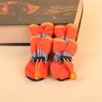 Atacado Mais recentes Botas de Chuva de Cão Sapatos Impermeáveis Sapatos Indoor Botas Pet Impresso Anti-Skid Sapatos 3 Cores 25 m2