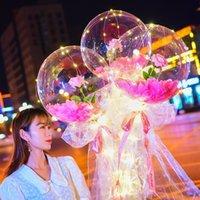 샤인 시뮬레이션 장미 풍선 투명 페트 칼리지 실크 리본 풍선 재료 램프 안개가 자욱한 표면 용지 Airballoon 발렌타인 10 3ZL N2