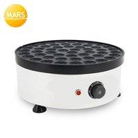 Mars 110 V 220 V Elektrikli Poffertjes Makineleri Tavalar 50 Delik Hollanda Mini Bebek Gözleme Makineleri Waffle Puffle Demir Baker
