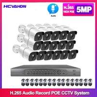 أنظمة 16CH 5MP PoE NVR كاميرات كيت في الهواء الطلق كاميرا IP سجل الصوت Onvif FTP CCTV نظام الأمن كيت 1