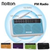 Radio Rolton E500 Altavoz Bluetooth inalámbrico HIFI STEREO PLAYER MUSICA PORTÁTIL FM W / LED Pantalla MIC TF Slot