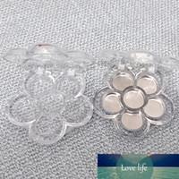 6 Grids Plum Flor Flor Forma Vazio Sombra Caso Transparente Plástico DIY Batom Caixa De Pó Recipiente Frascos Recarregáveis