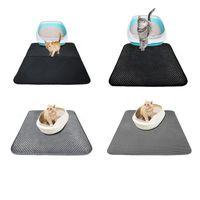 Wasserdichte Katze Wurfmatte Katze Wurfmatte Doppelschicht Tragbare beleuchtete Patkushion schwarz grau S-L