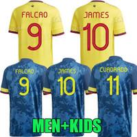 Kolumbien 2020 2021 Duván Zapata Fußball Jersey 21 22 Davinson Sánchez James Copa America Football Hemd Falcao Mina Camiseta de Futbol MAILLOT Damen Spielerversion